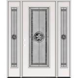 Texas Star Full Lite Steel Prehung Door Unit with Sidelites #90