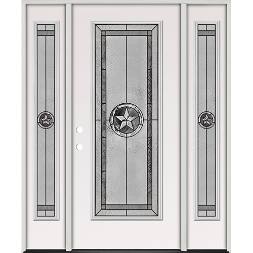 Texas Star Full Lite Steel Prehung Door Unit with Sidelites #90