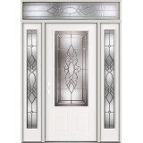 3/4 Lite Steel Prehung Door Unit with Transom #73