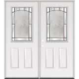 Half Lite Steel Prehung Double Door Unit #27