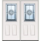 Half Lite Texas Star Steel Prehung Double Door Unit #40