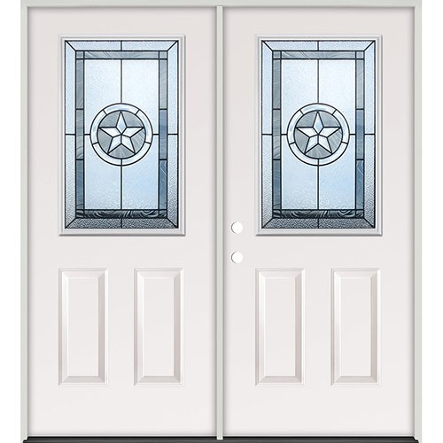 cheap half lite texas star steel prehung double door unit 40