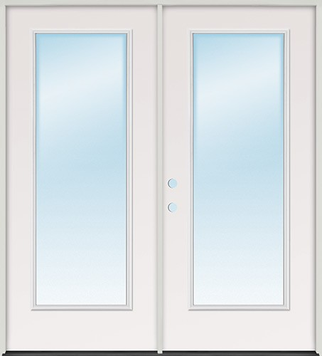 "6'0"" Full Lite Fiberglass Patio Prehung Double Door Unit"