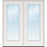 15-Lite GBG Fiberglass Patio Prehung Double Door Unit