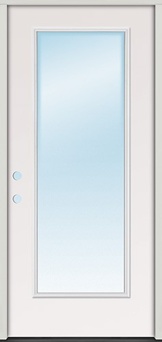 "3'0"" Full Lite Fiberglass Prehung Door Unit"