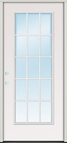"2'8"" 15-Lite Fiberglass Prehung Door Unit"
