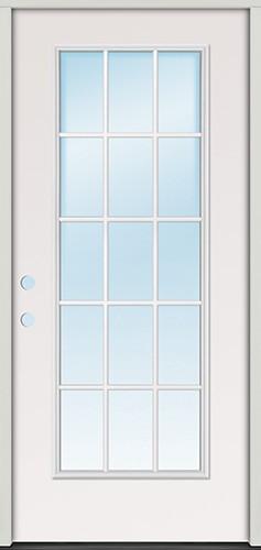 """2'8"""" 15-Lite Steel Prehung Door Unit"""