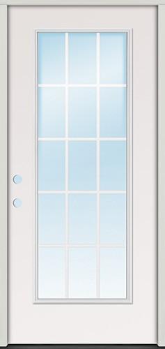 "3'0"" 15-Lite GBG Fiberglass Prehung Door Unit"