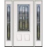3/4 Lite Steel Prehung Door Unit with Sidelites #277