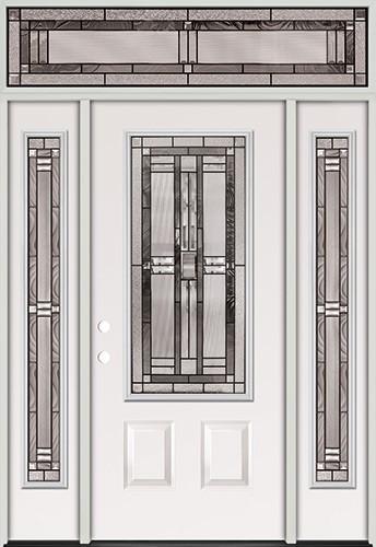 3/4 Lite Steel Prehung Door Unit with Transom #277