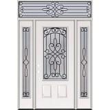 3/4 Lite Steel Prehung Door Unit with Transom #279