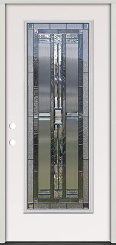 Full Lite Steel Prehung Door Unit #297