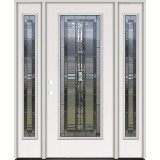 Full Lite Steel Prehung Door Unit with Sidelites #297