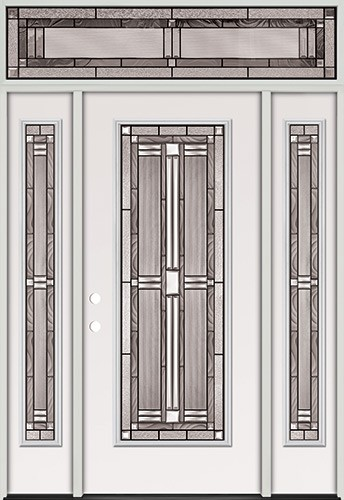 Full Lite Steel Prehung Door Unit with Transom #297