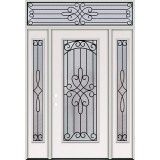 Full Lite Steel Prehung Door Unit with Transom #299