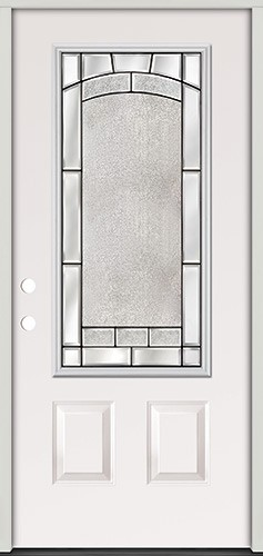 3/4 Lite Steel Prehung Door Unit #67