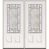 3/4 Lite Steel Prehung Double Door Unit #67