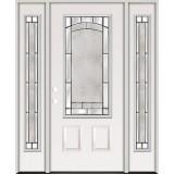 3/4 Lite Steel Prehung Door Unit with Sidelites #67