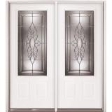 3/4 Lite Steel Prehung Double Door Unit #73