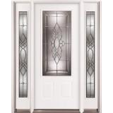3/4 Lite Steel Prehung Door Unit with Sidelites #73
