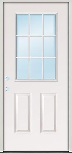 """3'0"""" 9-Lite Steel Prehung Door Unit"""
