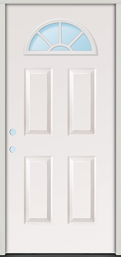 "2'8"" Fan Lite Fiberglass Prehung Door Unit"