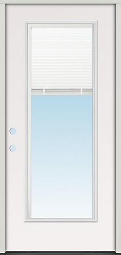 """2'8"""" Miniblind Full Lite Fiberglass Prehung Door Unit"""