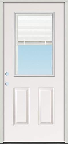 """3'0"""" Miniblind Half Lite Fiberglass Prehung Door Unit"""