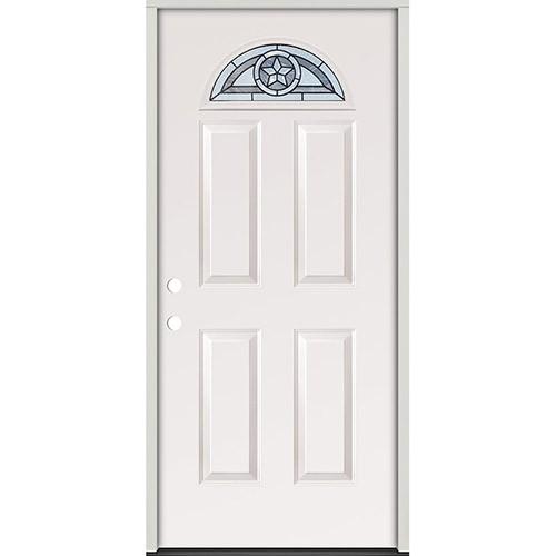 Texas Star Fan Lite Steel Prehung Door Unit #35