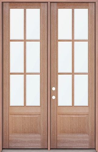 Cheap 8 39 0 Tall 6 Lite Mahogany Prehung Wood Double Door Patio Unit
