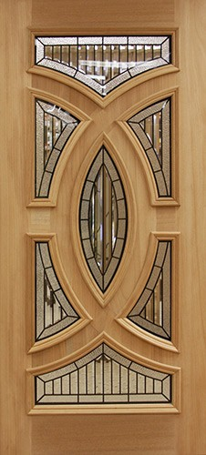 Baseball Mahogany Wood Door Slab #A8025-22