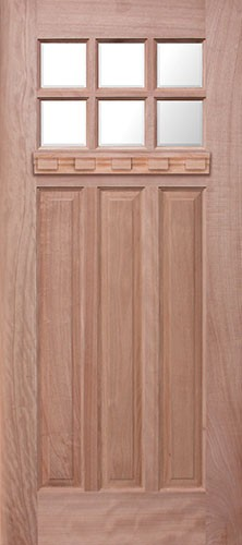 Attrayant Craftsman 6 Lite Mahogany Wood Door Slab With Shelf #UM43DX