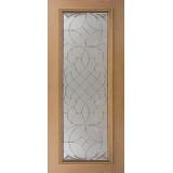 Full Lite Mahogany Wood Door Slab #A16