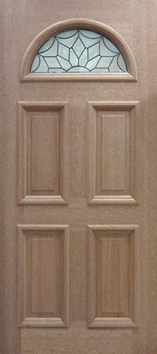 Fan Lite Mahogany Wood Door Slab #A438