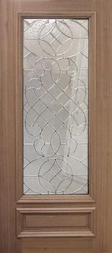 3/4 Lite Mahogany Wood Door Slab #A51