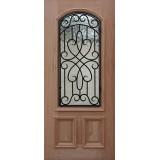2/3 Arch Grille Mahogany Wood Door Slab #A623FA