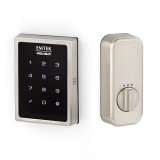 Emtek Square Touch Screen Deadbolt Satin Nickel