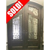 #Z004 Iron Double Arch Door Unit