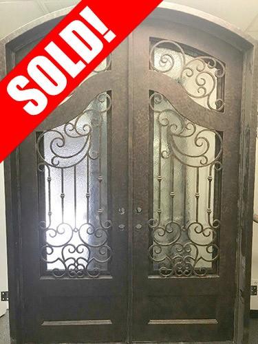 #Z004 Iron Double Arch Door Unit