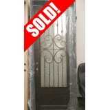 #Z016 Forte Iron Pre-hung Door with Hammered Glass