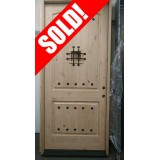 "#Z017 42"" Wide x 8'0"" Tall Rustic Knotty Alder Wood Door with Speakeasy"