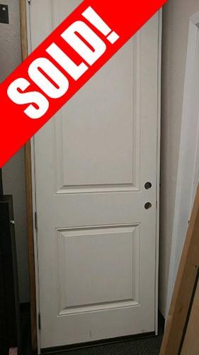 #Z018 Fiberglass 2-Panel Raised Molded Door Unit