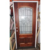 #Z023 Texas Star 3/4 Arch Mahogany Prehung Wood Door Unit #50