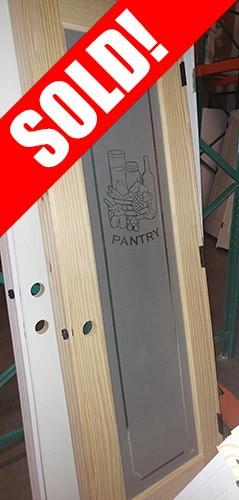 #Z024 Pantry Pine Interior Prehung Wood Door Unit