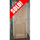 #Z025 2-Panel Arch V-Groove Knotty Alder Interior Prehung Wood Door Unit