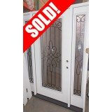 #Z026 Full Lite Fiberglass Prehung Door Unit with Sidelites #299