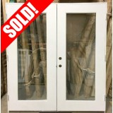 #Z032 Fiberglass Flush Glazed Outswing Patio Door Retro 6/0x6/8