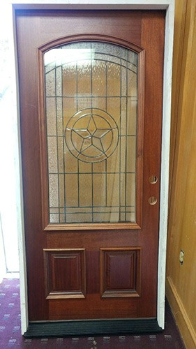#Z033 Texas Star Mahogany Prehung Wood Door Unit LH #50