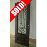 #Z039 Iron Deal Door Antique Copper Finish