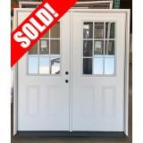"""#Z042102 6'0"""" 9-Lite Steel Patio Double Door"""